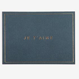 メッセージカード  16 Navy - je t'aiem 【グリーティング】【ラッピング】【ミニサイズ】
