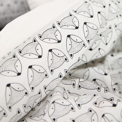生地・布・入園入学 ≪ Fox ≫  コットン/幅110cm デコレクションズオリジナル生地・布 【10cm単位販売】