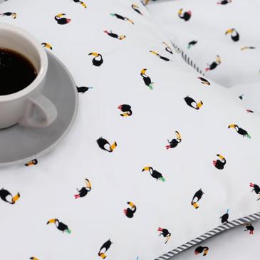 生地・布 ≪ Toucan Friends ≫  コットン/幅110cm デコレクションズオリジナル生地・布 【10cm単位販売】