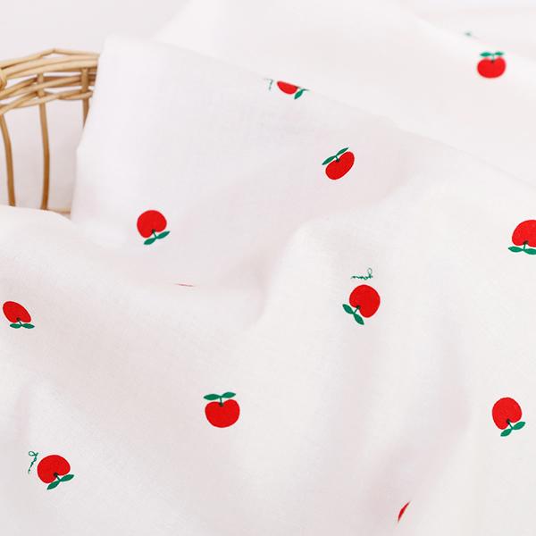 生地・布・入園入学 ≪Good morning apple≫ コットン/幅108cm デコレクションズオリジナル生地・布 【10cm単位販売】