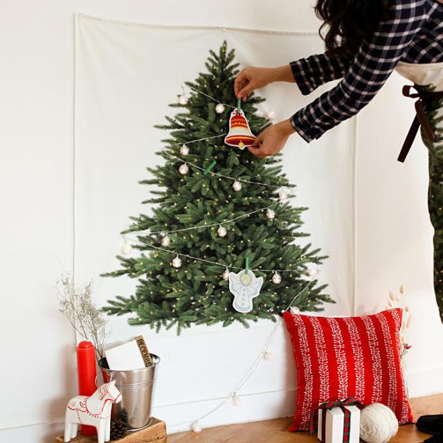 生地・布 ≪ クリスマスツリー(オーナメント) ≫  オックス/幅110cm パネル生地 【柄単位販売】