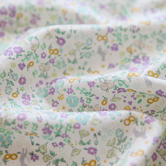 生地・布・入園入学 ≪ Play garden-lavender ≫コットン/幅110cm  【10cm単位販売】