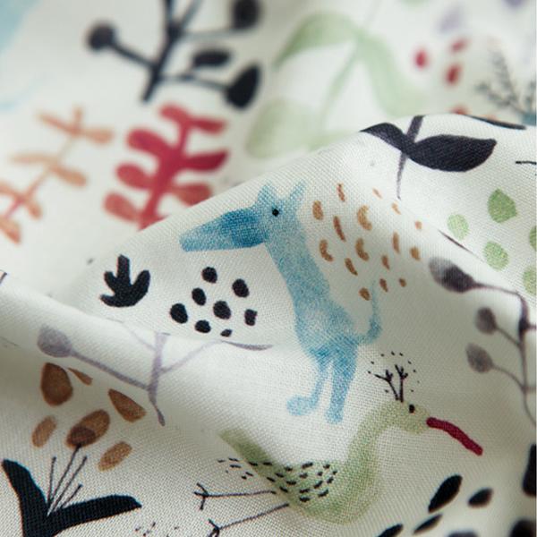生地・布・入園入学 ≪ Water bird ≫ コットン/幅110cm  【10cm単位販売】