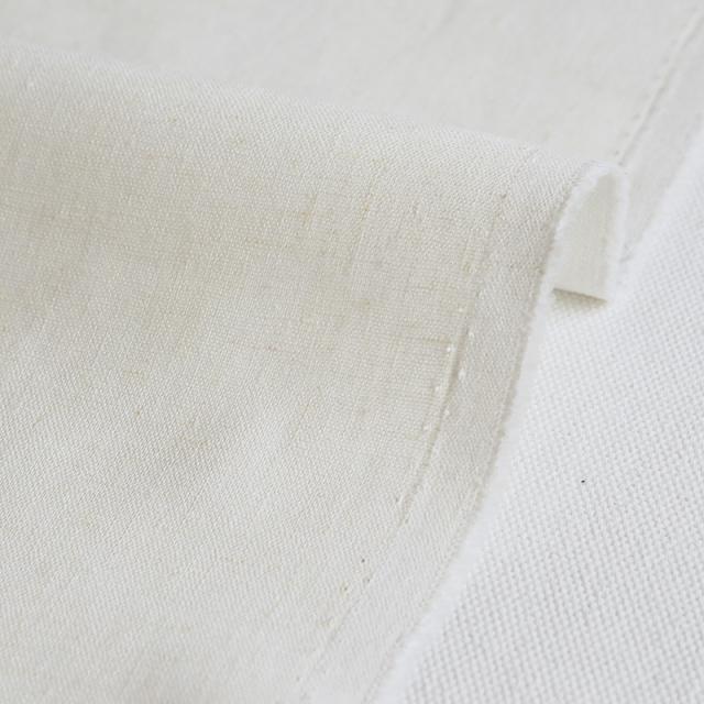 生地・布 ≪ 無地ハーフリネン 01 アイボリー(白) ≫ ハーフリネン/幅135cm 【10cm単位販売】