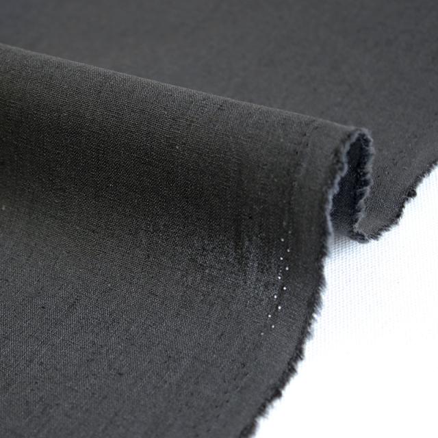 生地・布 ≪ 無地ハーフリネン 14 チャコール(黒) ≫ ハーフリネン/幅135cm 【10cm単位販売】