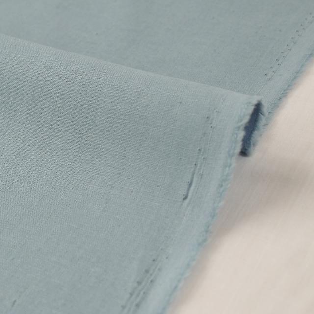 生地・布 ≪ 無地ハーフリネン 19 ブルーグレー≫ ハーフリネン/幅135cm 【10cm単位販売】