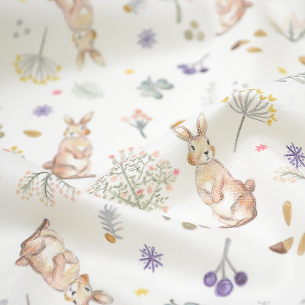 生地・布・入園入学 ≪Milky rabbit ≫コットン/幅109cm  【10cm単位販売】
