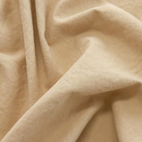 生地・布 ≪ 無地ハーフリネン バイオウォッシュ  06 ベージュ ≫ ハーフリネン/幅143cm 【10cm単位販売】