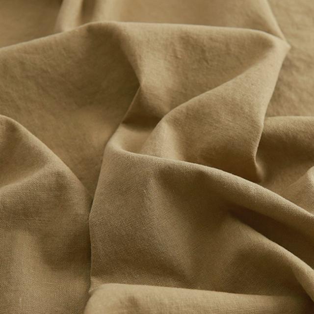 生地・布 ≪ 無地ハーフリネン バイオウォッシュ 07 オリーブ ≫ ハーフリネン/幅143cm 【10cm単位販売】