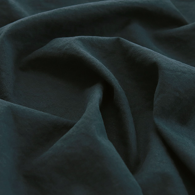 生地・布 ≪ 無地ハーフリネン バイオウォッシュ 18 スモーキーネイビー ≫ ハーフリネン/幅143cm 【10cm単位販売】