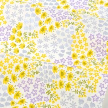 生地・布 ≪ WILDFLOWER - flower bed  ≫  コットン/幅110cm デコレクションズオリジナル生地・布 【10cm単位販売】