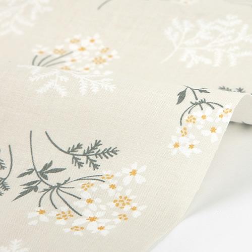 生地・布 ≪ Lace flower - lace flower ≫  コットン/幅155cm デコレクションズオリジナル生地・布 【10cm単位販売】