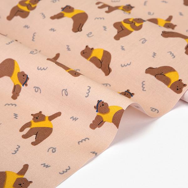 生地・布・入園入学 ≪ Yoga bear ≫ コットン/幅108cm デコレクションズオリジナル生地・布 【10cm単位販売】