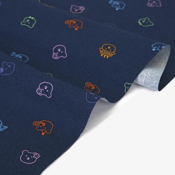 生地・布 ≪Neon Jelly Bear ≫ オックス/幅150cm デコレクションズオリジナル生地・布 【10cm単位販売】