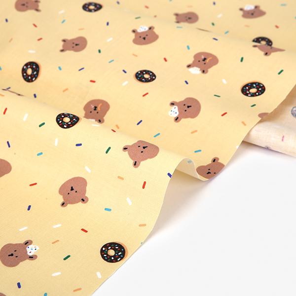生地・布・入園入学 ≪ Baking bear ≫ コットン/幅108cm デコレクションズオリジナル生地・布 【10cm単位販売】