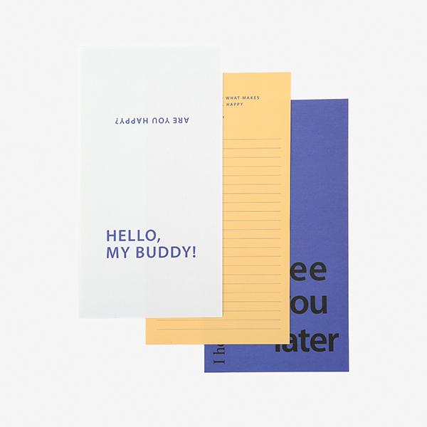レターセット Message Letter - 01 Happy 【グリーティング】【ラッピング】【メール便対応】