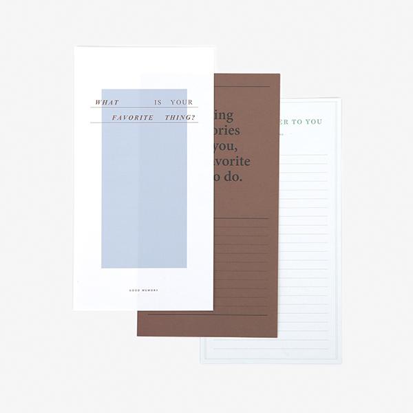 レターセット Message Letter - 04 Favorite thing 【グリーティング】【ラッピング】【メール便対応】