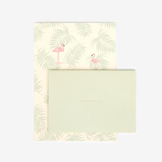 レターセット 01 Flamingo 【グリーティング】【ラッピング】