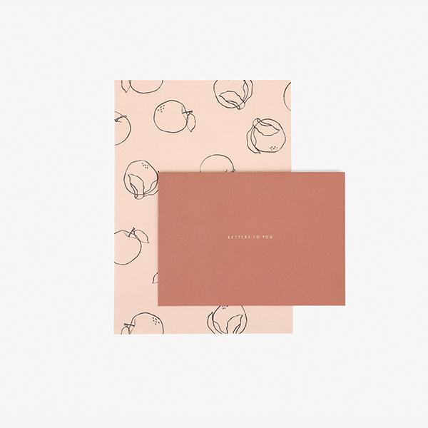レターセット 14 Plain apple 【グリーティング】【ラッピング】