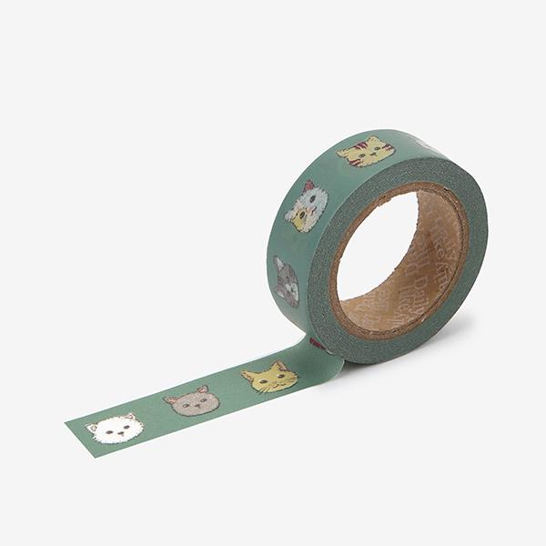 マスキングテープ 157 : Friendly kitty 【メール便対応】