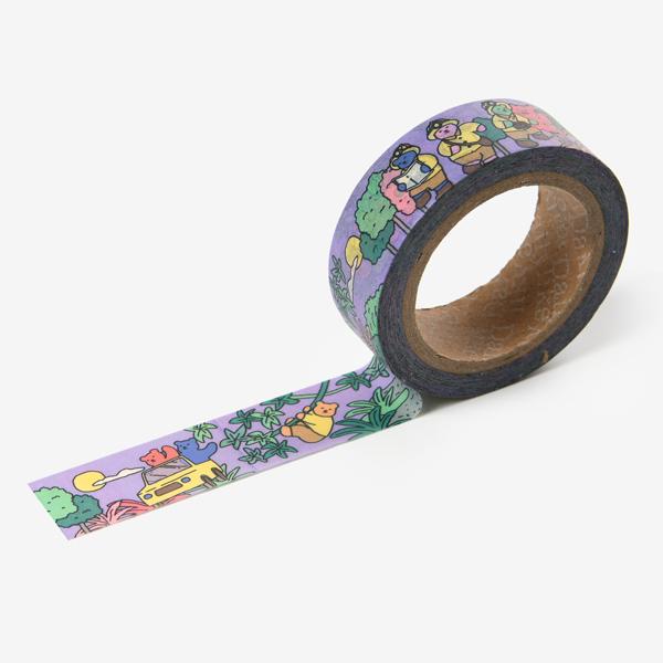 マスキングテープ Jelly bear masking tape - 01 Adventure