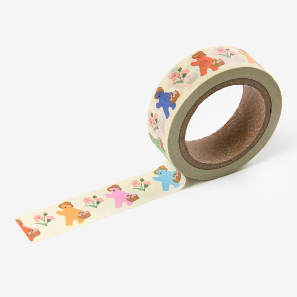 マスキングテープ Jelly bear masking tape - 02 Storybook