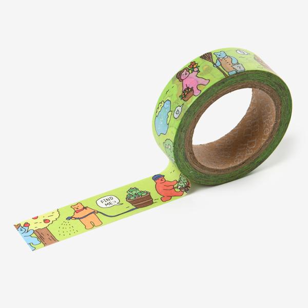 マスキングテープ Jelly bear masking tape - 03 Garden