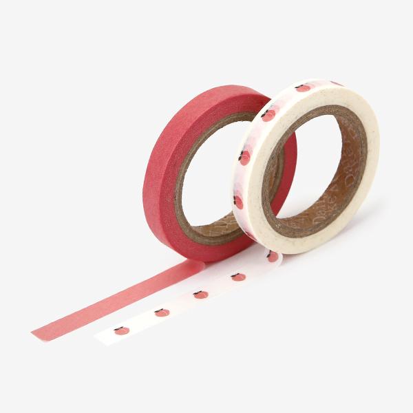 マスキングテープ slim 2p - 08 Peach スリム 2個セット 【ゆうパケット対応】