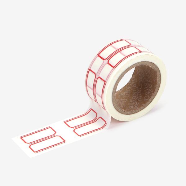 マスキングテープ Wide - 05 name tag2