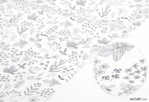 NATURE-leaf  ※幅148cm 【生地・布】【カット販売】【花柄・ドット・水玉】