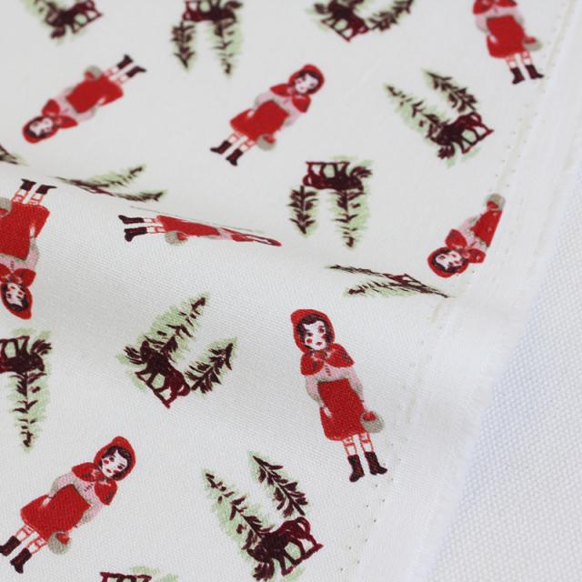 生地・布 ≪ Little red hood ≫ オックス/幅148cm ナタリーレテ/Nathalie Lete 【10cm単位販売】