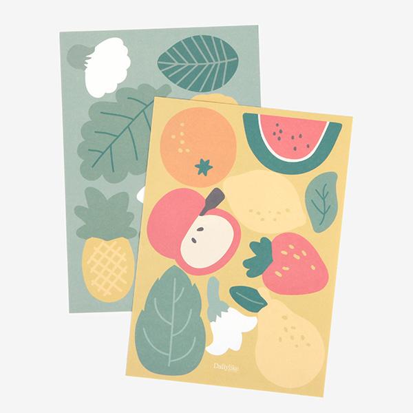 ポイントステッカー 02 Fruit シール/デコレクションズオリジナル 【ゆうパケット対応】