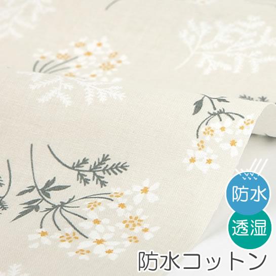 防水北欧風生地・布 ≪ Lace flower - lace flower ≫ 防水コットン/幅108cm デコレクションズオリジナル生地・布【10cm単位販売】