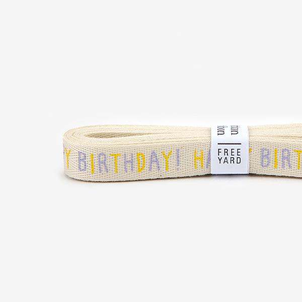 【コットンリボン】 25 Happy birthday ラッピング 紐 リボン 【デコレクションズ】【メール便対応】