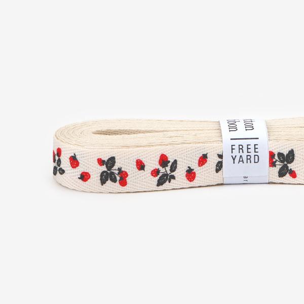 【コットンリボン】 33 Strawberry ラッピング 紐 リボン 【デコレクションズ】【メール便対応】