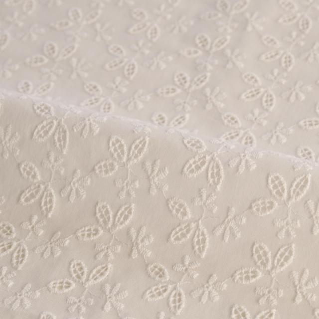 生地・布 ≪ lace - 038 Little leaf  ≫ カットワークレース生地/幅145cm 【10cm単位販売】