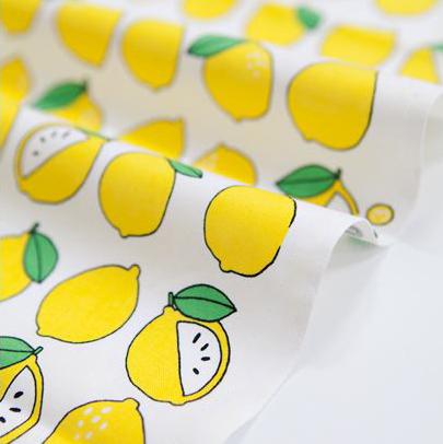 生地・布・入園入学 ≪ フルーツ(レモン) ≫  コットン/幅110cm 【10cm単位販売】