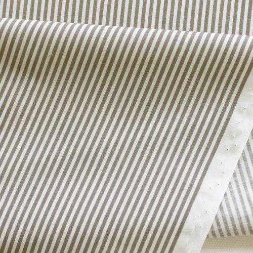 生地・布・入園入学 ≪YUWA stripe - グレー×オフ ≫  コットン生地/幅108cm/シャーティング YUWA/有輪商店/YUWAコットン 【10cm単位販売】