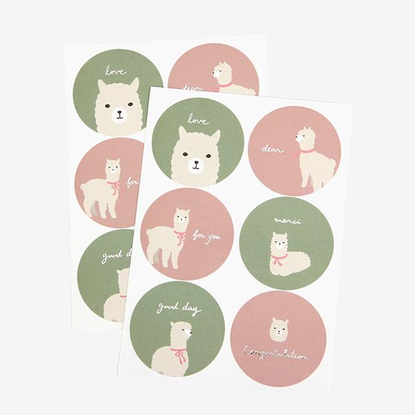 メッセージステッカー 02 Alpaca シール/デコレクションズオリジナル 【ゆうパケット対応】