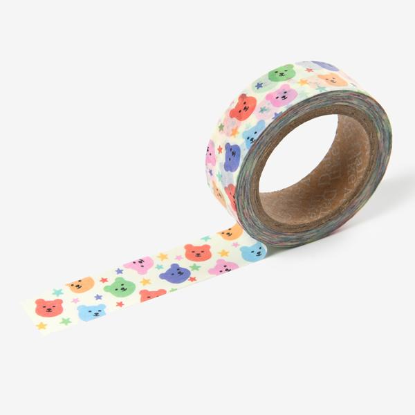 マスキングテープ Jelly bear masking tape - 04 Party