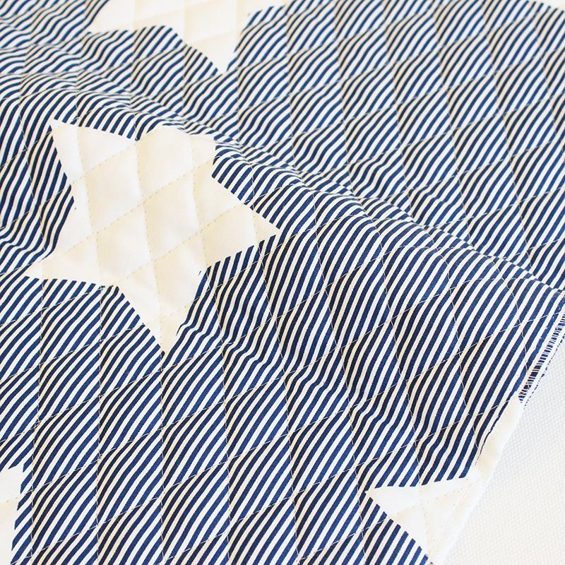 【入園入学セットレシピ】 生地・布・入園入学 ≪ Navy star ≫キルティング/幅105cm 【10cm単位販売】