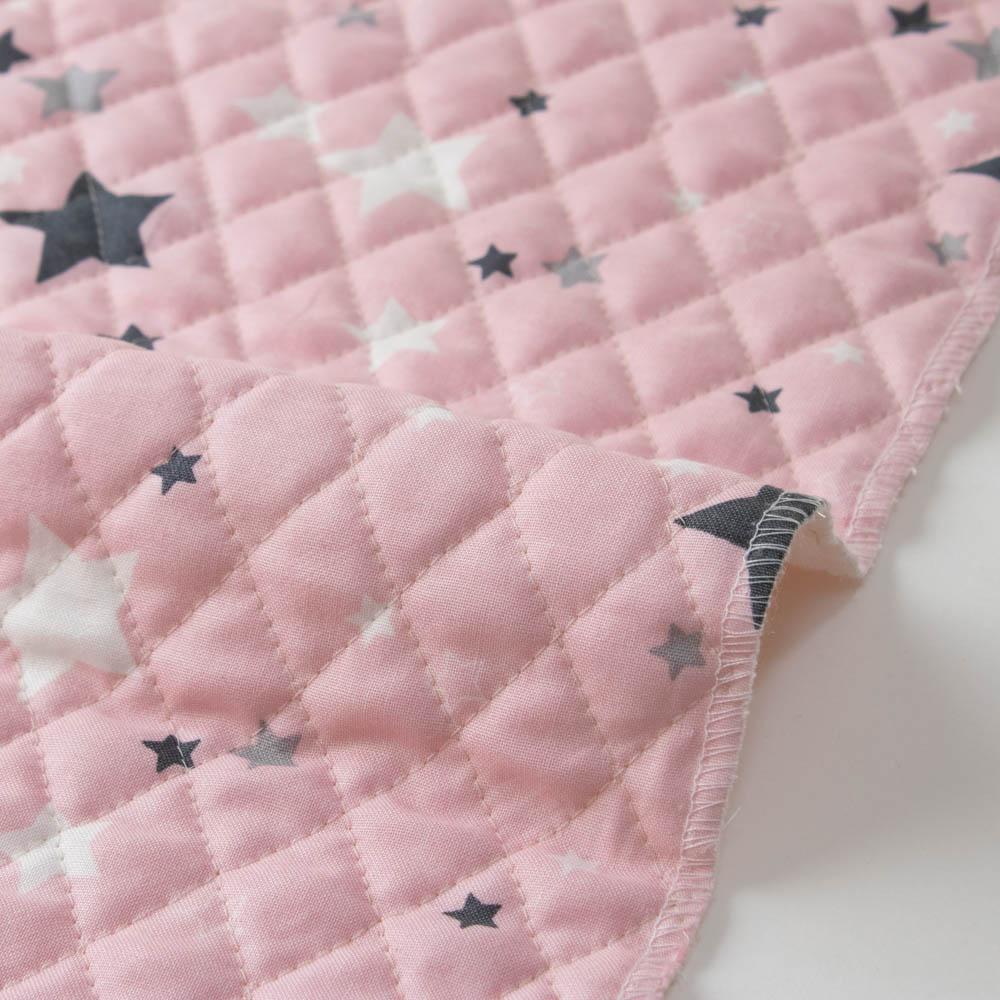 【入園入学セットレシピ】 生地・布・入園入学 ≪ STAR - pink ≫キルティング/幅108cm 【10cm単位販売】