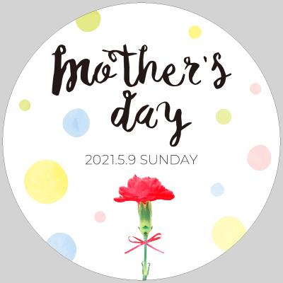 母の日タイトル Mother's day 2021 カーネーションの写真