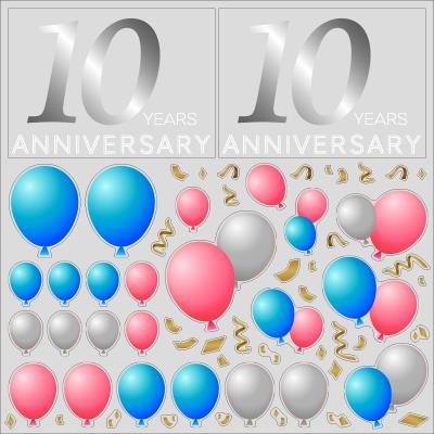 【VP】Anniversary バルーンの写真