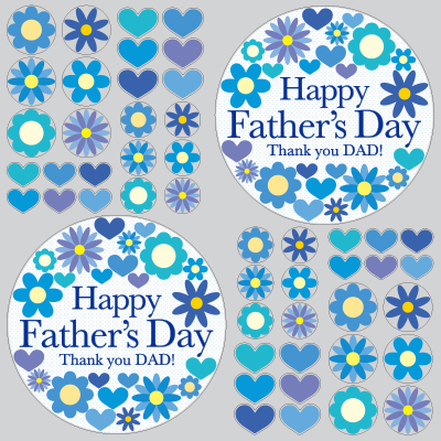 【VP】Happy Father's Day フラワーマークの写真