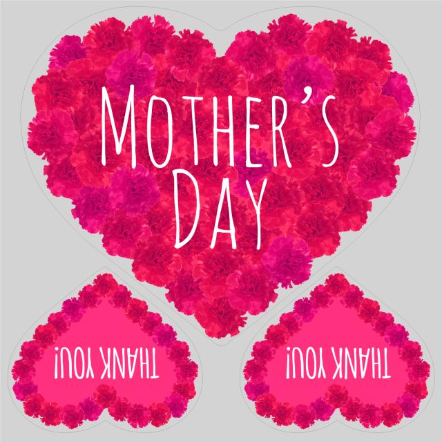 母の日タイトル FlowerHeart ピンクA