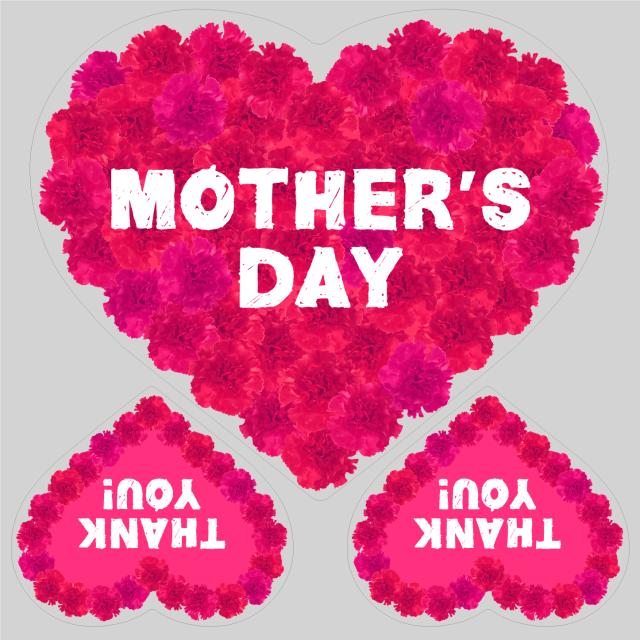 母の日タイトル FlowerHeart ピンクB