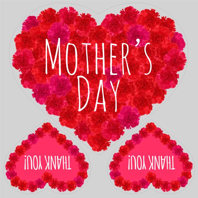 母の日タイトル FlowerHeart レッドA