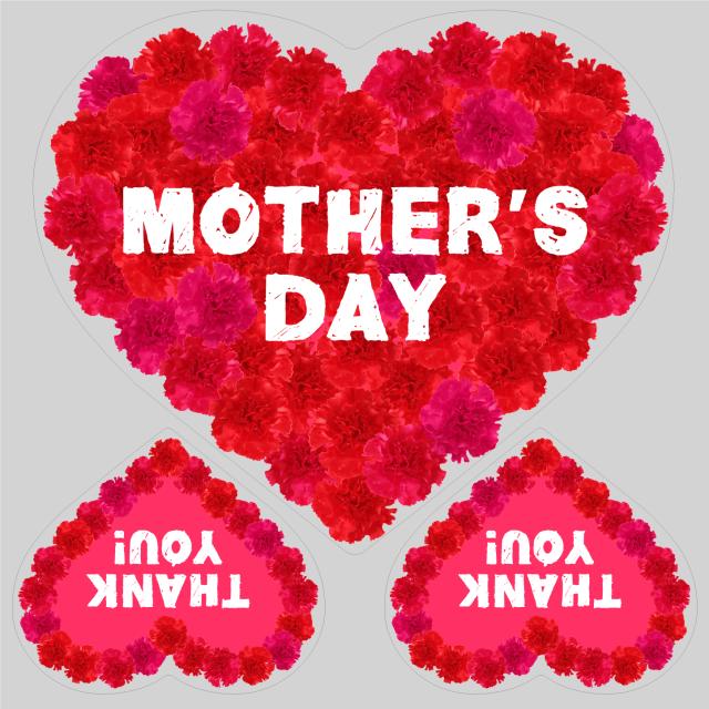 母の日タイトル FlowerHeart レッドB