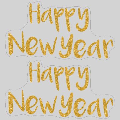Happy New Year タイトルA 金ラメ